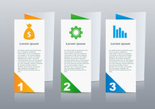 Brochures design for social infographic, diagram Stock Photography