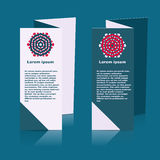 Brochures design for social infographic, diagram Royalty Free Stock Photos