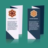 Brochures design for social infographic, diagram Stock Photos