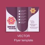 Brochures design for social infographic, diagram Royalty Free Stock Images