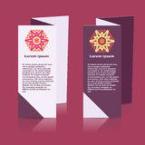 Brochures design for social infographic, diagram Royalty Free Stock Photo