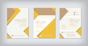 Brochures en het conceptontwerpvector van de lay-outzigzag Stock Foto's