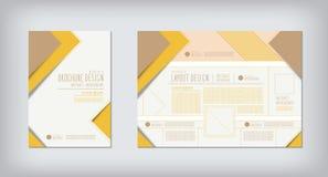 Brochures en het conceptontwerpvector van de lay-outzigzag Stock Fotografie