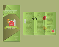 Brochures and flyer design template in polygonal Royalty Free Stock Images