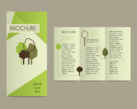 Brochures and flyer design template in polygonal Stock Image