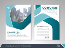 Brochures and flyers template design Royalty Free Stock Images