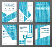 Brochures set in polygonal style Royalty Free Stock Photography