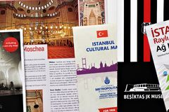 Brochures of Turkey. Useful to prepare a trip. Cultural and advertising brochures of the symbolic places of Turkey. Useful in preparing a trip to the country royalty free stock photo