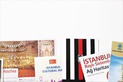 Brochures van Turkije Nuttig om een reis voor te bereiden stock foto's
