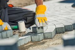 Brock Paving Closeup Photo royalty free stock photo