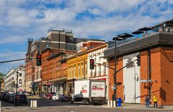 Brock Street in Kingston, Ontario royalty-vrije stock afbeeldingen