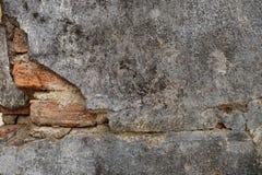 Brocken Backsteinmauer Lizenzfreie Stockfotos