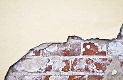 Brocken Brick Wall Stock Images