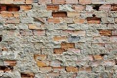 Brocken Brick Wall Stock Image