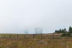 Brocken brumeux, Allemagne Image libre de droits