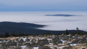 Brocken clouds Stock Photos