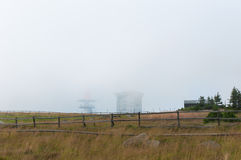 Brocken de niebla, Alemania Imagen de archivo libre de regalías