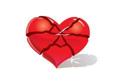 Brocken heart Stock Image