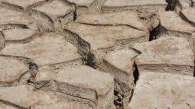 Brocken jord, torr jord Arkivbilder