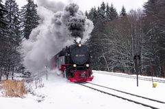 Brocken railway in winter Stock Image