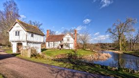 Brockhampton庄园和警卫室, Herefordshire,英国 免版税库存照片