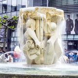 Brockhaus Fountain in Frankfurt am Main Royalty Free Stock Images