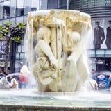 Brockhaus Fountain in Frankfurt am Main Royalty Free Stock Images