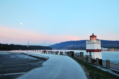 Brockton Lighthouse in Stanley Park Stock Photography