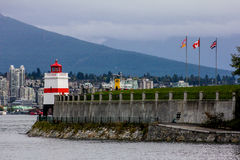 Brockton Point Lighthouse, Vancouver, BC. Stock Image