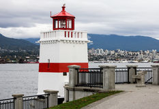 Brockton Point Lighthouse, Vancouver, BC. Royalty Free Stock Image