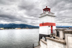 Brockton Point Lighthouse in Vancouver, Canada Stock Photo