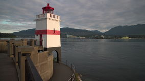 Brockton Point Lighthouse, Vancouver 4K. UHD stock video footage