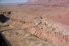 broco-navajo över floden Arkivfoto