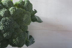 Brocoli. Close up of a full brocoli with copy space royalty free stock images