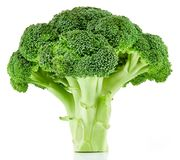 Brocoli cru d'isolement photo libre de droits