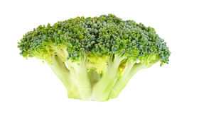 Brocoli cru d'isolement sur le fond blanc Photo stock