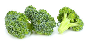 Brocoli cru sur le fond blanc Photo libre de droits