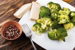 Brocoli cuit de chou avec des épices Photo libre de droits