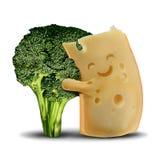 Brocoli et fromage drôles illustration de vecteur