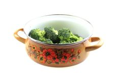 Brocoli in the pot Stock Photography