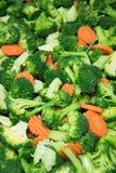 Brocoli sain, carottes de légume Photographie stock libre de droits