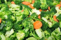 Brocoli sain, carottes de légume Photo libre de droits