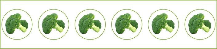 Brocoli vert dans quelques bulles Image stock