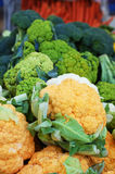 Brocolli and Cauliflower. Was taken at our neighborhood farmers market Royalty Free Stock Photo