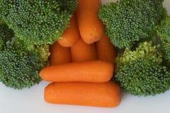 Brocolli e carote Fotografia Stock