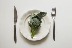 Brocolli on plate Stock Image