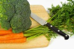 Brocolli und carots Lizenzfreies Stockbild