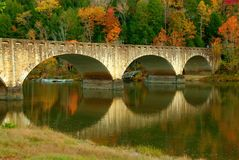 brocumberland flod Arkivfoton