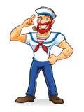 Broda żeglarz royalty ilustracja