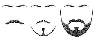 Broda, wąsy, brwi ilustracji
